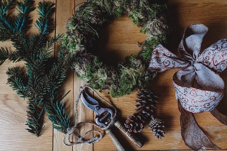 Christmas Door Wreath Class